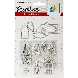 Studio Light - Essentials Christmas Houses Stamp & Die Set DC26