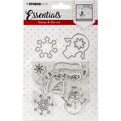Studio Light - Essentials Let It Snow Stamp & Die Set DC27