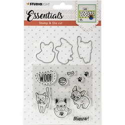 Studio Light - Essentials Dog & Cat Stamp & Die Set DC30
