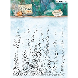 Studio Light - Ocean View - Bubbles Background Clear Stamp