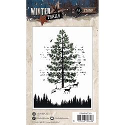 Studio Light - Winter Trails - Winter Forest Clear Stamp
