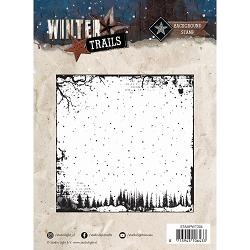 Studio Light - Winter Trails - Snowy Background Clear Stamp