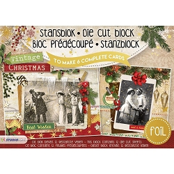 Studio Light - Die-Cut Card Topper Pad - Vintage Christmas