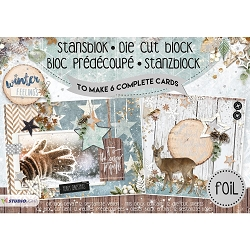 Studio Light - Die-Cut Card Topper Pad - Winter Feelings