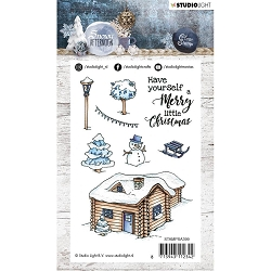 Studio Light - Snowy Afternoon - Winter Cabin Clear Stamp