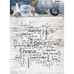 Studio Light - Snowy Afternoon - Winter Word Background Clear Stamp