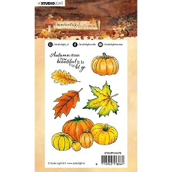 Studio Light - Wonderful Autumn - Pumpkins & Leaves Clear Stamp #478