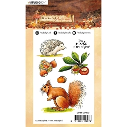Studio Light - Wonderful Autumn - Squirrel & Hedgehog Clear Stamp #479