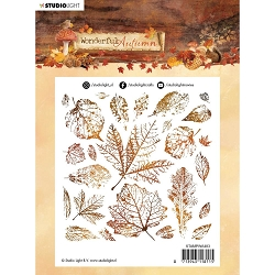 Studio Light - Wonderful Autumn - Leaf Print Clear Stamp #483