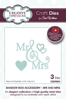 Sue Wilson Designs - Die - Shadow Box Accessory - Mr. and Mrs.