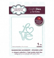 Sue Wilson Designs - Die - Shadow Box Accessory - Stacked Love