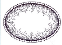 Sue Wilson Designs - Cling Mounted Stamp - Holly Ring Oval