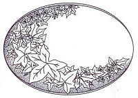 Sue Wilson Designs - Cling Mounted Stamp - Holly & Ivy Plaque