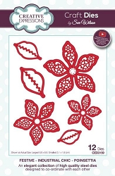 Sue Wilson Designs - Die - Festive Industrial Chic Collection Poinsettia