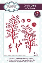 Sue Wilson Designs - Die - Festive Industrial Chic Collection Holly