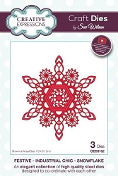 Sue Wilson Designs - Die - Festive Industrial Chic Collection Snowflake