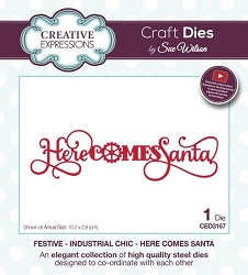 Sue Wilson Designs - Die - Festive Industrial Chic Collection Here Comes Santa