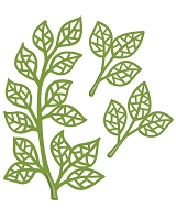 Sue Wilson Designs - Die - Finishing Touches Mosaic Leaves  (set of 3 dies)