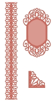 Sue Wilson Designs - Die - Scandinavian Collection - Corner, Border, Tag (set of 3 dies)