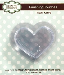 Sue Wilson Designs - Accessory - Fillables Collection - Set of 7 Plastic HEART Treat Cups (for use with Fillables Heart dies)