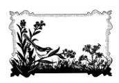 Sue Wilson Designs - Cling Mounted Rubber Stamp - Birdsong Meadow
