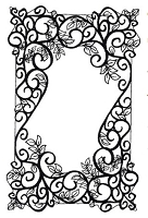 Sue Wilson Designs - Cling Mounted Rubber Stamp - Woven Leaves