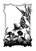 Sue Wilson Designs - Cling Mounted Rubber Stamp - Butterfly Meadow