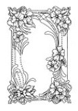 Sue Wilson Designs - Cling Mounted Rubber Stamp - Floral Cartouche