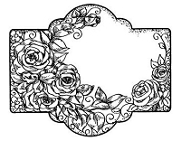 Sue Wilson Designs - Cling Mounted Rubber Stamp - Rose Bouquet