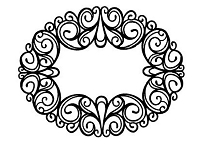 Sue Wilson Designs - Cling Mounted Rubber Stamp - Oval Ironwork