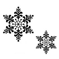 Sue Wilson Designs - Cling Mounted Stamp - Feathery Snowflake