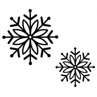 Sue Wilson Designs - Cling Mounted Stamp - Bold Snowflake