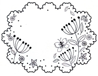 Sue Wilson Designs - Cling Mounted Stamp - Butterfly Garden
