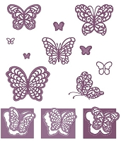 Sue Wilson Designs - Die - Finishing Touches Magical Butterflies