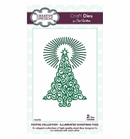 Sue Wilson Designs - Die - Festive Collection - Illuminated Tree :)