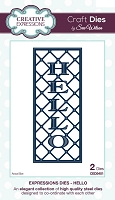 Sue Wilson Designs - Die - Expressions Collection - Hello
