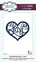 Sue Wilson Designs - Die - Expressions Collection - Love