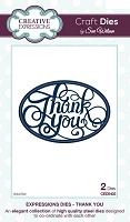 Sue Wilson Designs - Die - Expressions Collection - Thank You