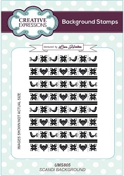 Creative Expressions - Cling Stamp - Scandi Background by Lisa Horton