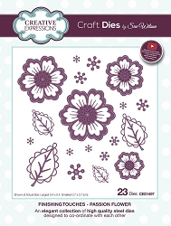 Sue Wilson Designs - Die - Finishing Touches Collection - Passion Flower