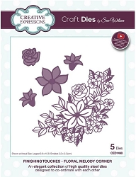 Sue Wilson Designs - Die - Finishing Touches Collection - Floral Melody Corner