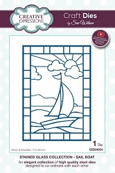 Sue Wilson Designs - Die - Stained Glass Collection - Sail Boat