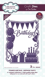 Sue Wilson Designs - Die - Frames & Tags - Birthday Party