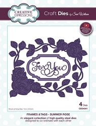 Sue Wilson Designs - Die - Frames & Tags - Summer Rose