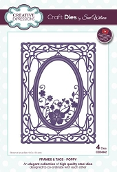 Sue Wilson Designs - Die - Frames & Tags - Poppy