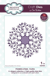 Sue Wilson Designs - Die - Frames & Tags - Flora