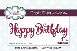 Sue Wilson Designs - Die - Mini Expressions - Happy Birthday