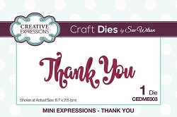 Sue Wilson Designs - Die - Mini Expressions - Thank You