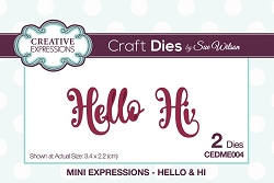 Sue Wilson Designs - Die - Mini Expressions - Hello and Hi
