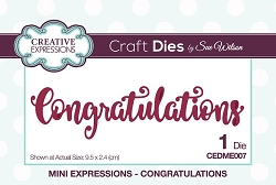 Sue Wilson Designs - Die - Mini Expressions - Congratulations